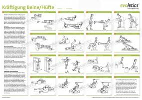Poster Kräftigung Beine/Hüfte