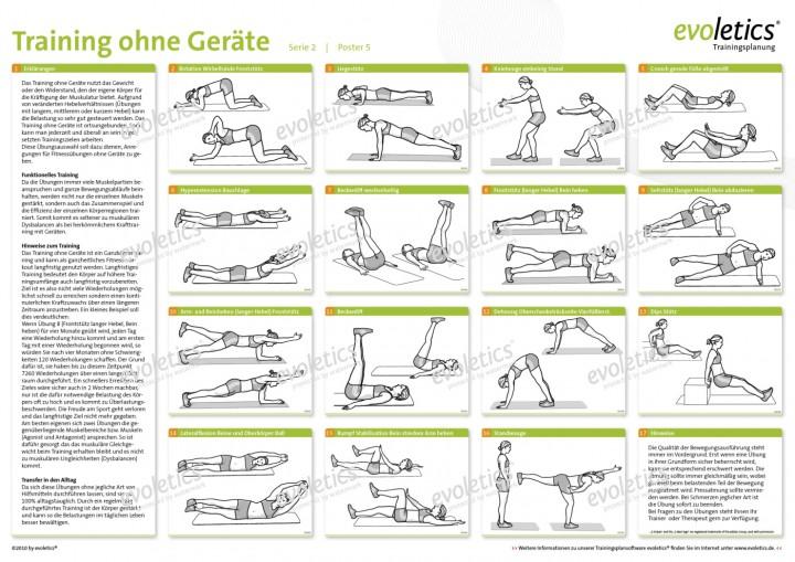 Berühmt Poster Training ohne Geräte | Spezielle Trainingsposter | Poster #BH_16