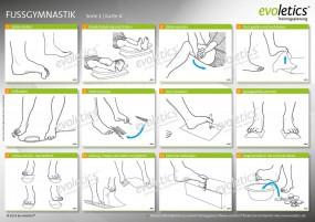 Übungskarte Fußgymnastik