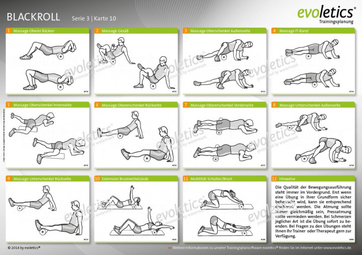 Übungskarte Blackroll | Übungskarten | evoletics Poster Shop
