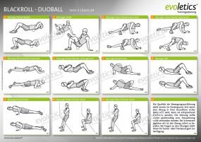 Übungskarte Blackroll - Duoball