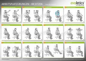 Übungskarte Arbeitsplatzübungen im Sitzen