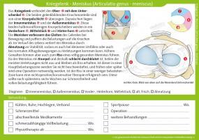 Therapiekarte Kniegelenk - Meniskus