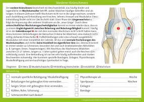 Therapiekarte Vorderer Knieschmerz