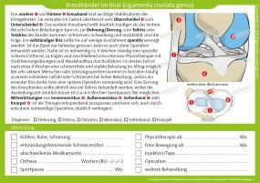 Therapiekarte Kreuzbänder im Knie