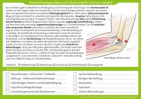 Therapiekarte Tennisellenbogen/Mausarm